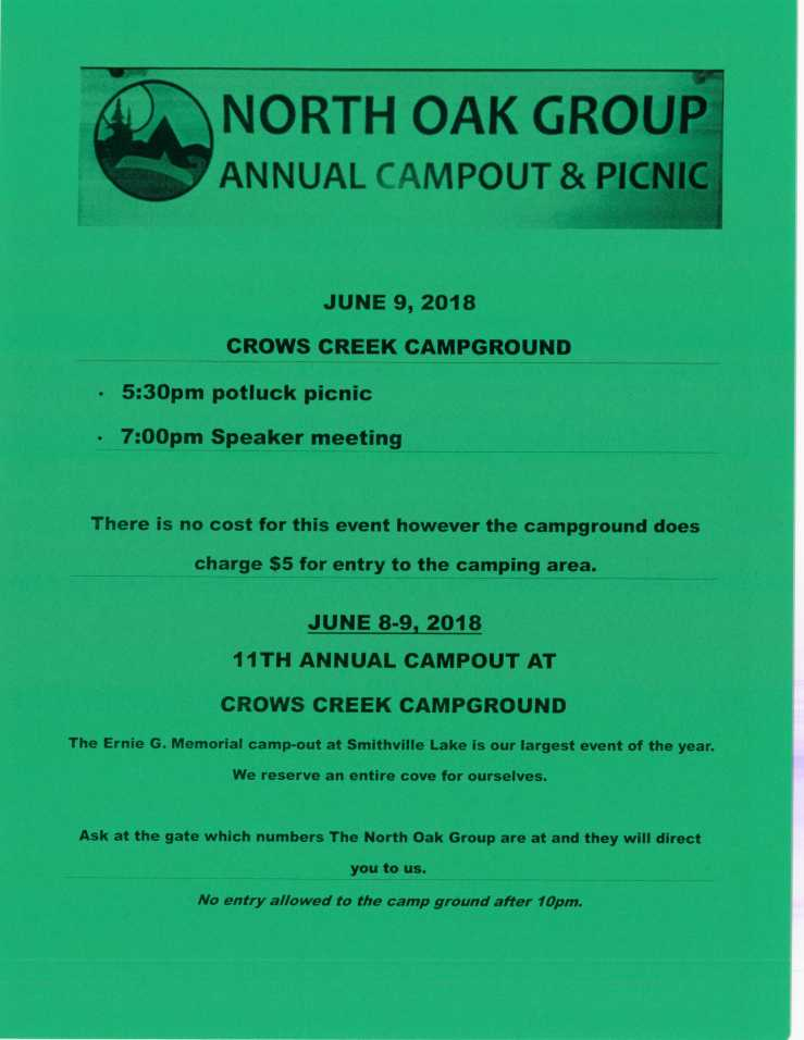 camp out flyer